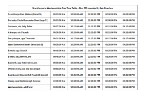 Scunthorpe to Westwoodside Bus Time Table